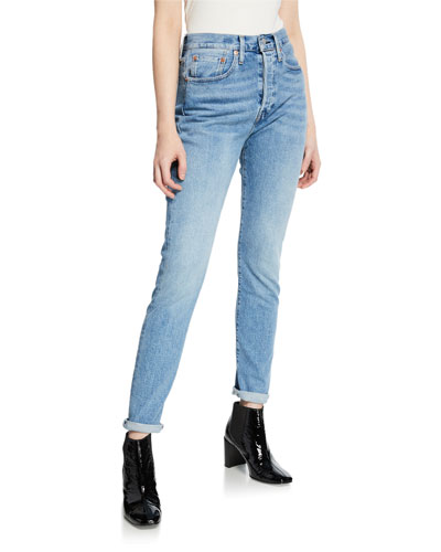 501 Mid-Rise Stretch Skinny Jeans