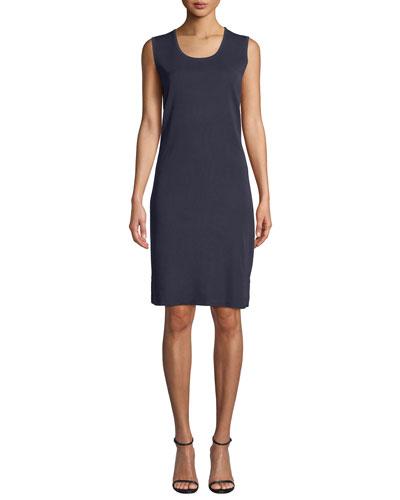 Scoop-Neck Sleeveless Knee-Length Sheath Dress