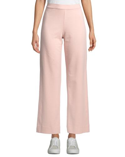 Ankle-Length Stretch Cotton Jog Pants