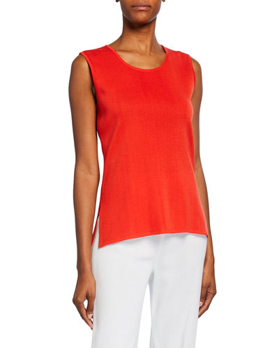 Scoop-Neck Wrinkle-Resistant Knit Tank Top