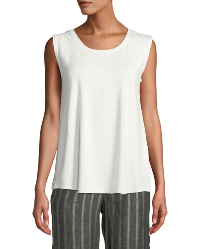 Elisa Scoop-Neck Solid Jersey Tank