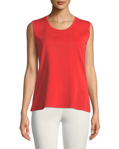 Petite Scoop-Neck Wrinkle-Resistant Knit Tank Top