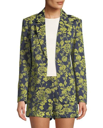 Janae Structured Floral Jacket