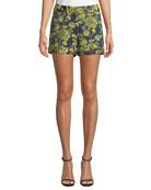 cinq a sept Elaine Mid-Rise Floral Shorts