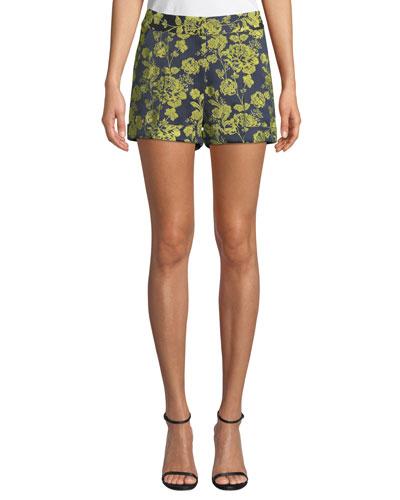 Elaine Mid-Rise Floral Shorts