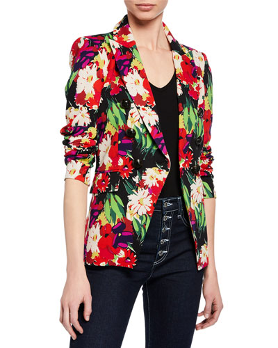 Miller Floral Double-Breasted Dickey Jacket