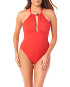 Amoressa by Miraclesuit Seaborne Sabre Halter Keyhole One-Piece