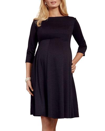 Maternity Sienna 3/4-Sleeve Ponte Roma Jersey Dress
