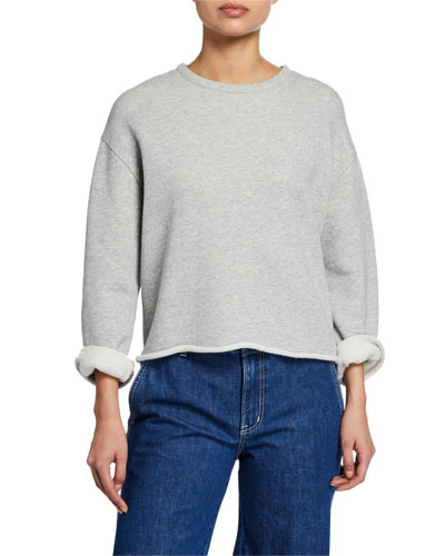 Crewneck Long-Sleeve Cotton Sweatshirt