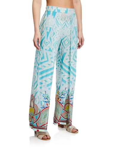 Plus Size Dandridge Printed Coverup Pants