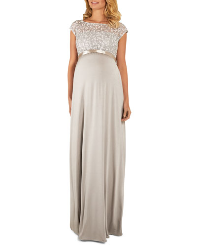 c87ce2b5d7bd Quick Look. Tiffany Rose · Maternity Mia Cap-Sleeve Gown ...