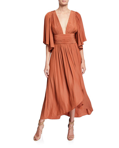 173be5235 Plunging V Neckline Dress | Neiman Marcus