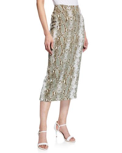 8ac8eac55 Quick Look. Diane von Furstenberg · Kara Snake-Print Tailored Pencil Skirt