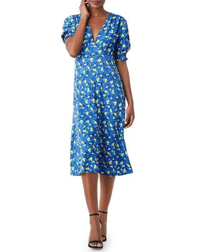 19855b14266 Quick Look. Diane von Furstenberg · Jemma V-Neck Floral-Print Midi Dress