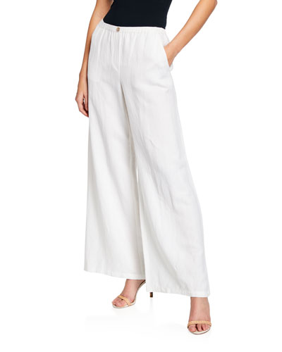 Refreshed Wide-Leg Linen Pants