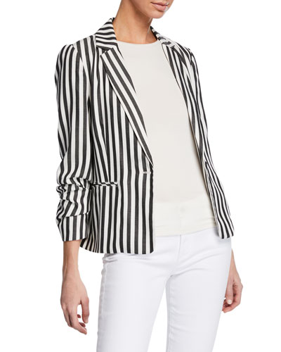Winston Striped One-Button Blazer