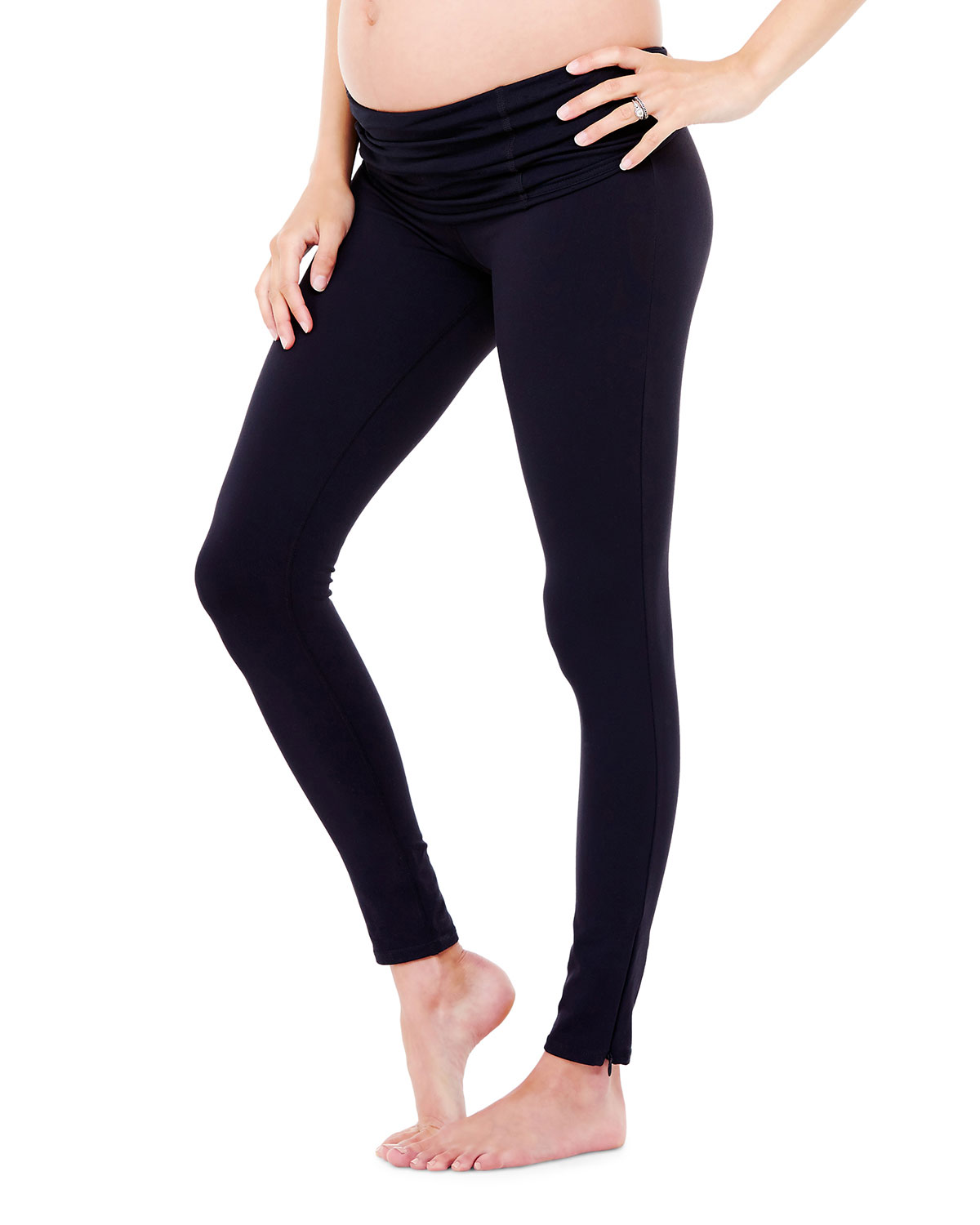 Maternity Active Leggings with Crossover Panel