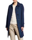 Burberry Camden Check Undercollar Car Coat