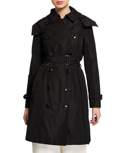 burberry quilted trench jacket with detachable hood