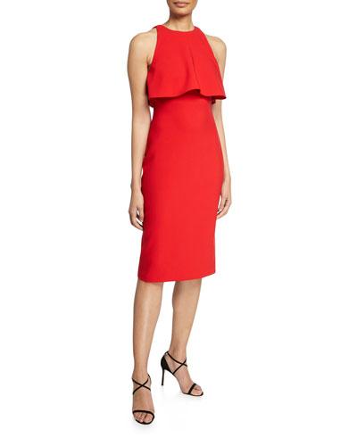 Shayna Ruffle Bodice Overlay Dress