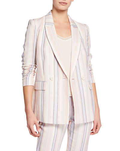 Grace Striped Double-Breasted Jacket
