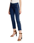 J Brand Selena Mid-Rise Cropped Boot-Cut Jeans w/