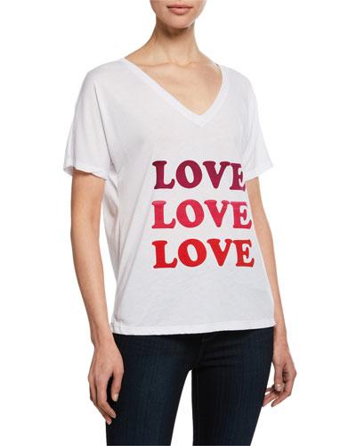 Love V-Neck Short-Sleeve T-Shirt