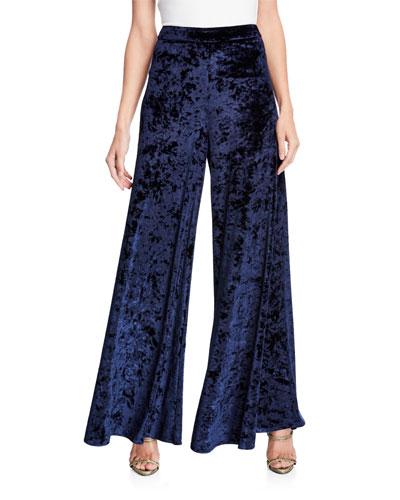 Jasmine Wide-Leg Velvet Pants