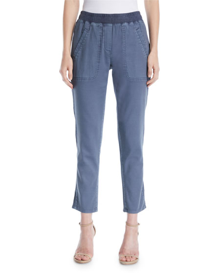 NIC+ZOE Garment-Dye Twill Pants