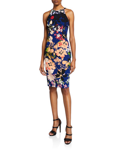 d1e105479db5 Designer Sleeveless Sheath Dress