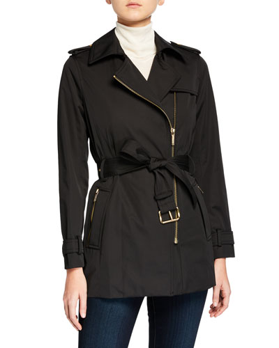Zip-Front Trench Jacket