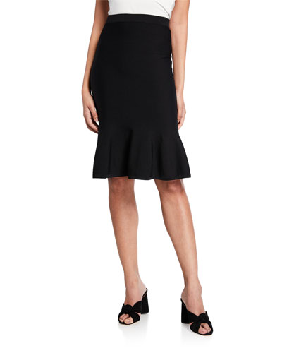 Solid Jersey Flare Skirt