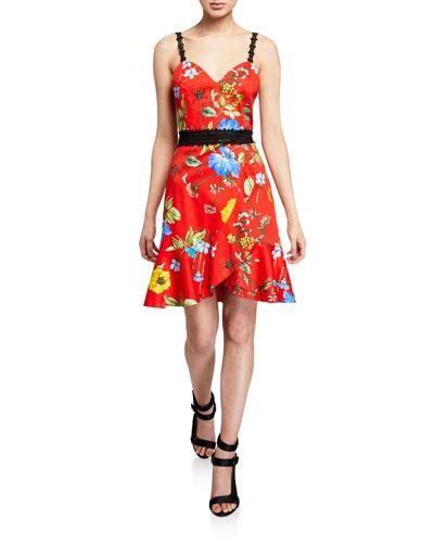 Kirby Spaghetti Strap Ruffle Dress