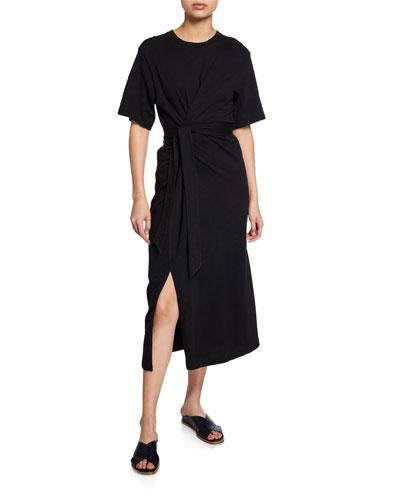 2b2f7764 Black Tie Waist Dress | Neiman Marcus