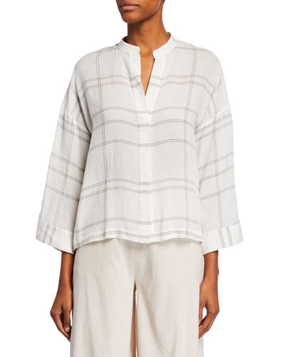 Carpinteria Plaid V-Neck Full-Sleeve Shirt