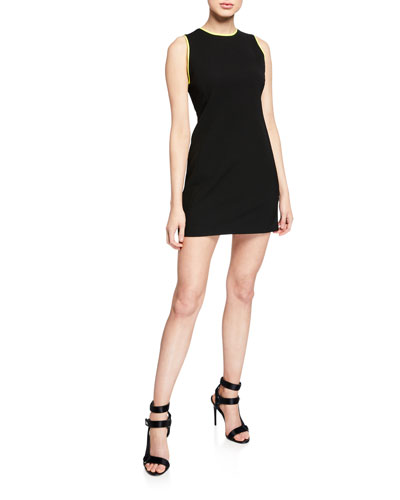 Colin Colorblock Crewneck Sleeveless Dress