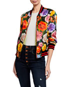 Alice + Olivia Lonnie Reversible Bomber Jacket and