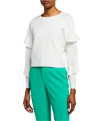 Alice + Olivia Stacey Slim Straight-Leg Trousers and