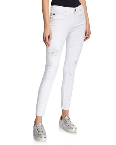 The Legging Ankle Cropped Distressed Jeans