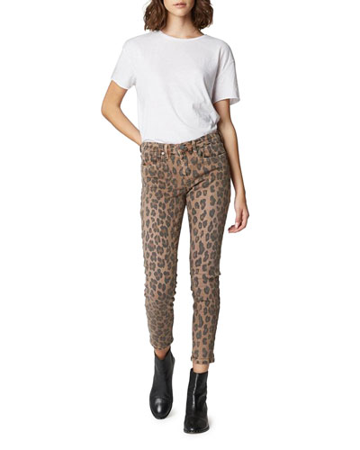 The Reade Cropped Leopard-Print Skinny Jeans