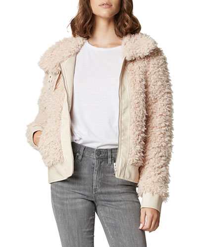 Cloud Nine Faux-Fur Bomber Jacket