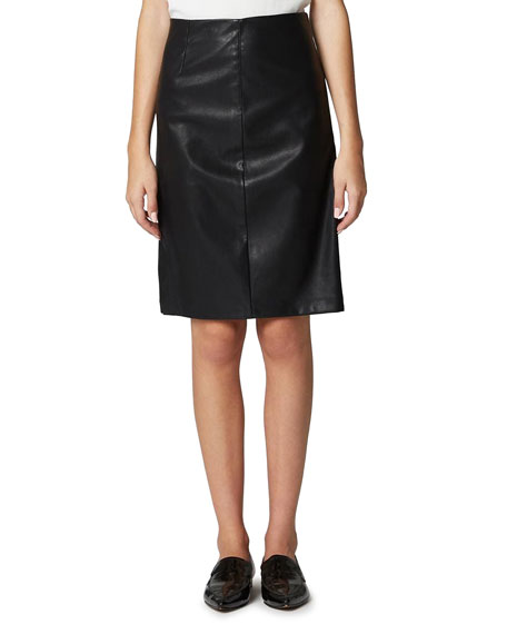 Blank NYC Vegan Leather Side-Split Pencil Skirt