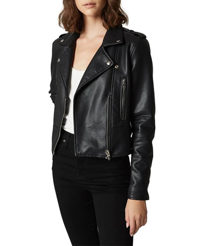 It Takes Two Vegan Leather Moto Jacket