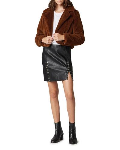 0055886806be Faux-fur Jacket | Neiman Marcus