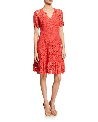 Toscana Floral Lace A-Line Dress