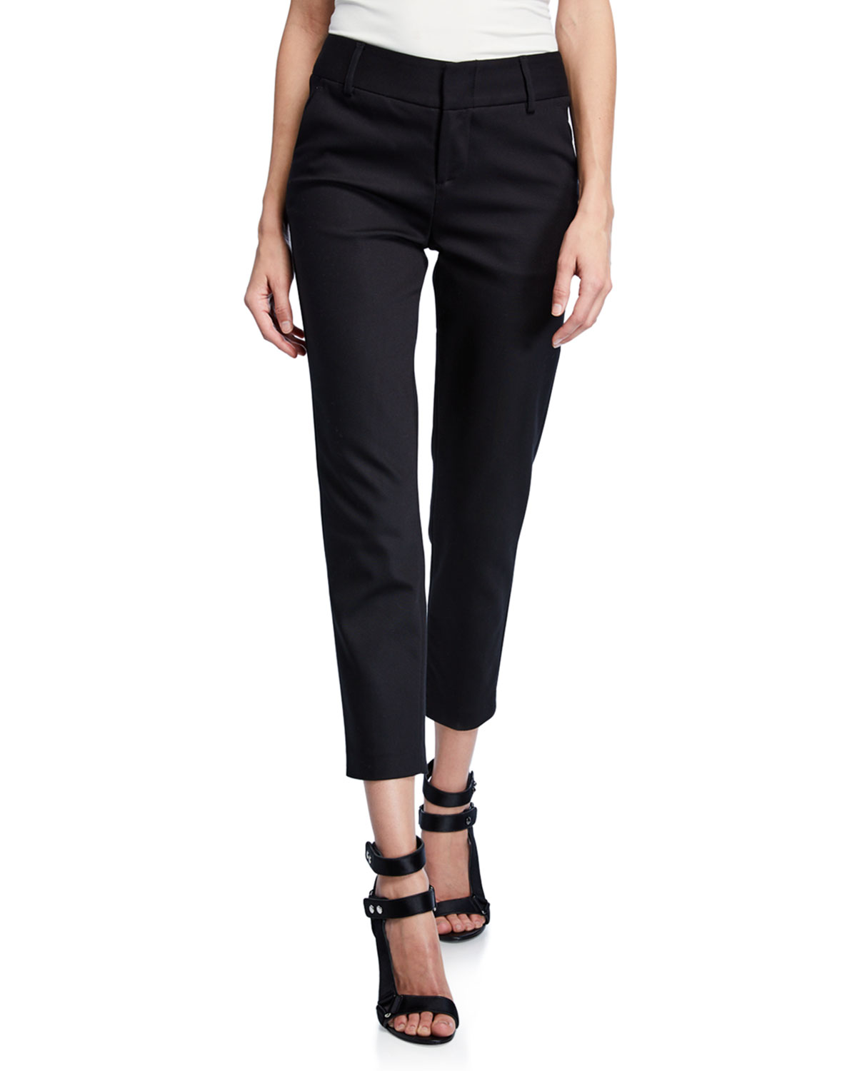 Stacey Slim Straight-Leg Cropped Trousers