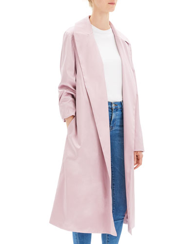Chintz Cotton Belted Trench Coat