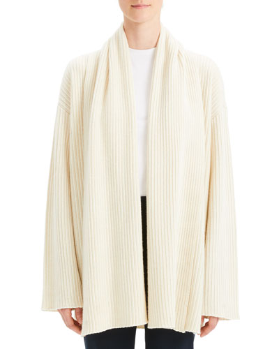 db3ab551f Quick Look. Theory · Cashmere Oversized Rib Cardigan. Available in White