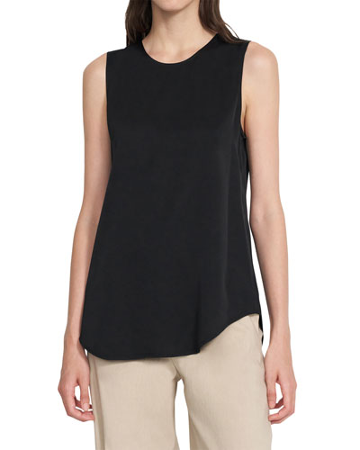 f9e13e86382c73 Quick Look. Theory · Bringam Silk Stretch Sleeveless Top