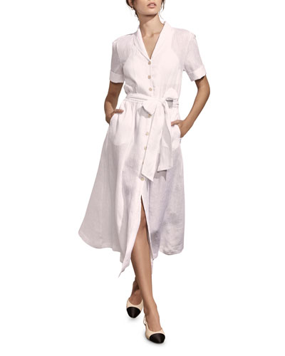 de0fe2e8ea Quick Look. Amaio Swim · Kamille Button-Down Short-Sleeve Linen Shirtdress